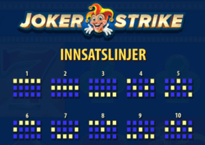joker strike spilleautomat gevinstlinjer